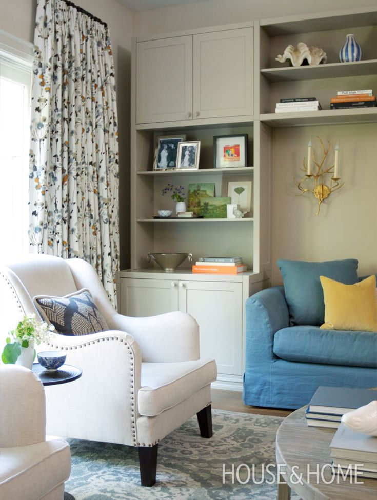 Small Space Makeover: A Sophisticated Family Home |  Designer Maia Roffey proves sophisticated and family-friendly aren't mutually exclusive in this must-see small space makeover. See how she transformed a dated split-level home into a functional, playful and adult-approved space for a young family. Watch the home tour: http://houseandhome.com/tv/segment/small-space-makeover-sophisticated-family-home