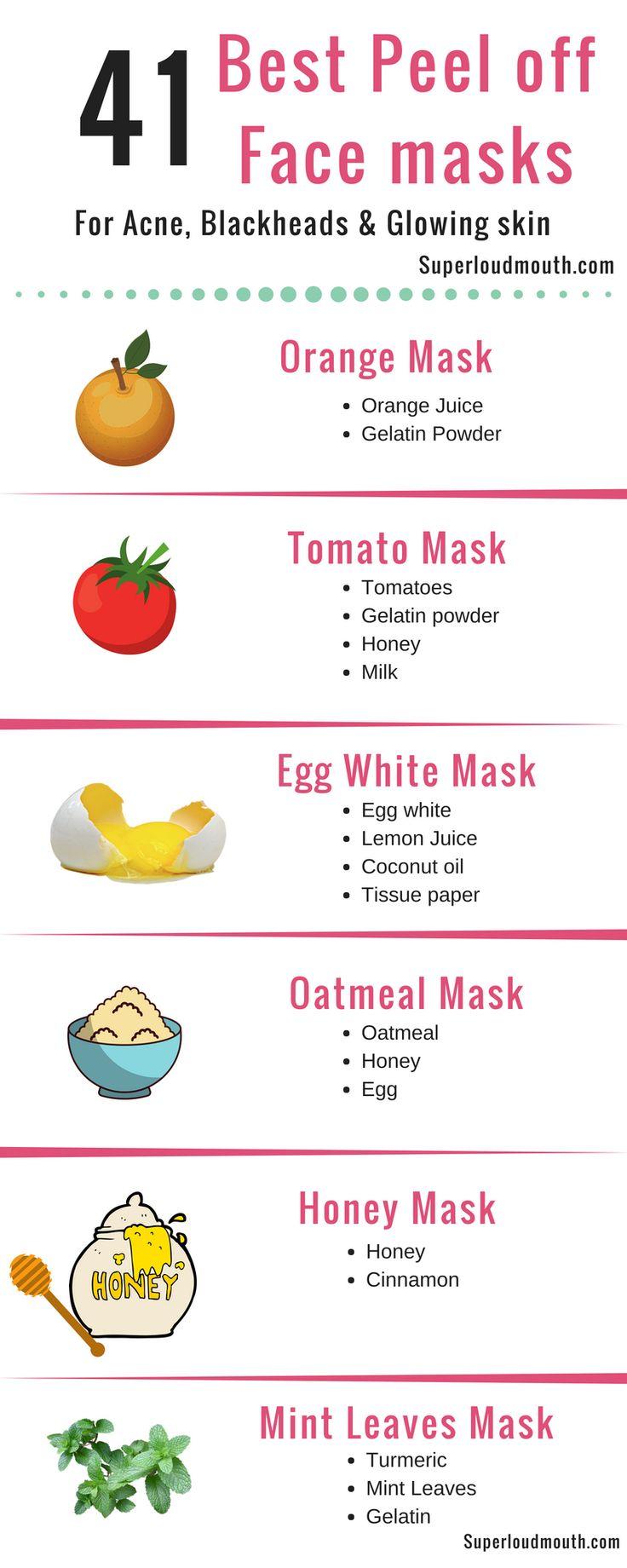 41 DIY Peel off Gesichtsmasken für Akne, Mitesser und strahlende Haut