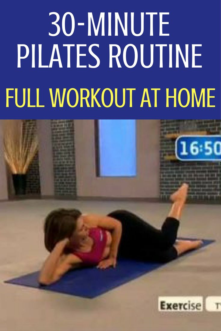 You can do a full, challenging and effective Pilates workout at home in just 30 minutes. Tandy Gutierrez guides you in breathing and how to connect your breath to your Pilates workout for maximum benefit. With Pilates mat work, you use your own muscle r