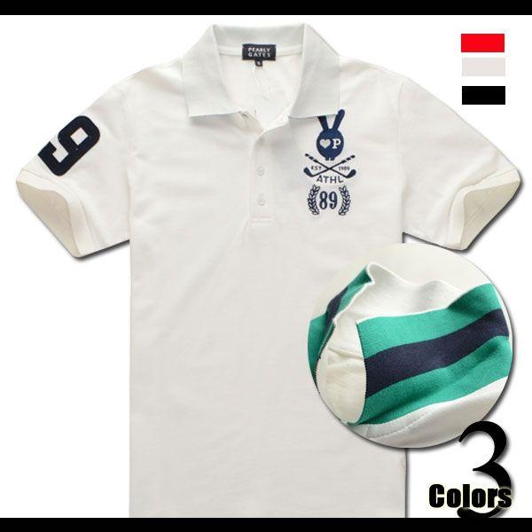 PEARLY GATES パーリーゲイツ メンズ ゴルフ ポロシャツ 半袖 ゴルフウェア 半袖Tシャツ シャツ 半袖ポロシャツ アウトレット ウェア Tシャツ