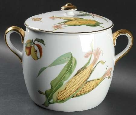 Royal Worcester Evesham Gold (Porcelain) Bean Pot and Lid, Fine China Dinnerware...CLICK for more detail...FREE Shipping on order over $25