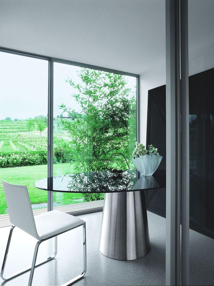 Esstisch modern glas  Die besten 25+ Oval glass dining table Ideen auf Pinterest | gelbe ...