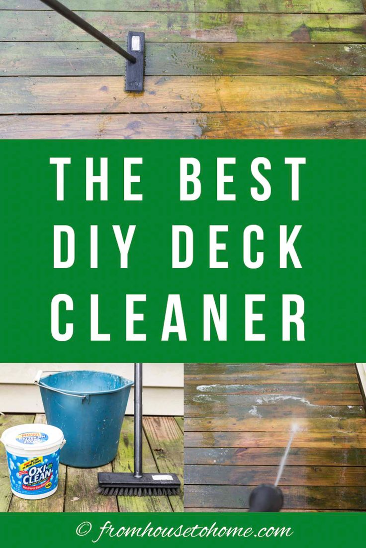Homemade deck cleaner the best inexpensive non toxic diy
