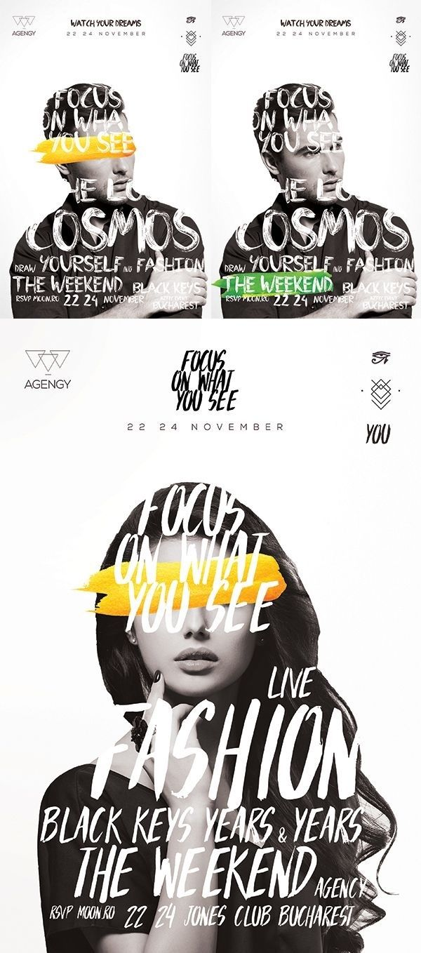 poster | Focus on What you See Live Fashion    #typography
