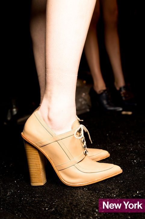 Spotted at Fashion Week: The Best Shoe Trends of Fall 2014  by Nikki Ogunnaike