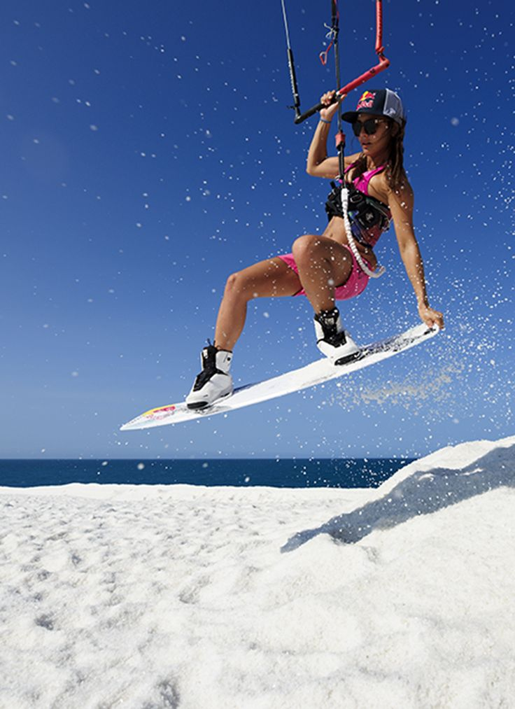 Kiteboarding on salt