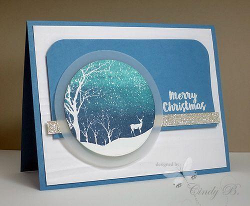 Snowy Scene by Hero Arts. Cindy Beach stampspaperandink.typepad.com More
