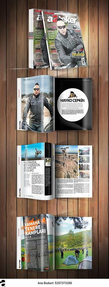 a2teker Magazine Design / a2teker Dergi Tasarımı Sayfa mizanpajı, İlan tasarım, Kapak tasarım. / Page layout design, Ad design, Magazine cover design,