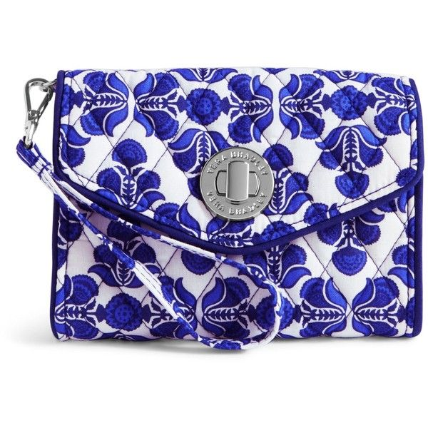 Vera Bradley Your Turn Smartphone Wristlet in Cobalt Tile (£33) ❤ liked on Polyvore featuring accessories, tech accessories, cobalt tile, samsung galaxy smartphone, wristlet smartphone, iphone wristlet, smart phone wristlet and evening wristlet