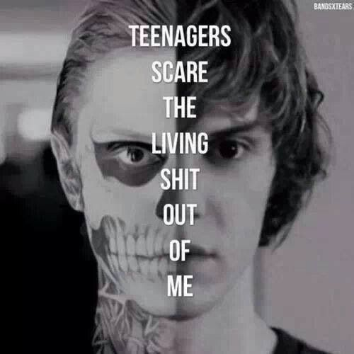 My Chemical Romance - Teenagers lyrics. (Tate, American Horror Story) <3