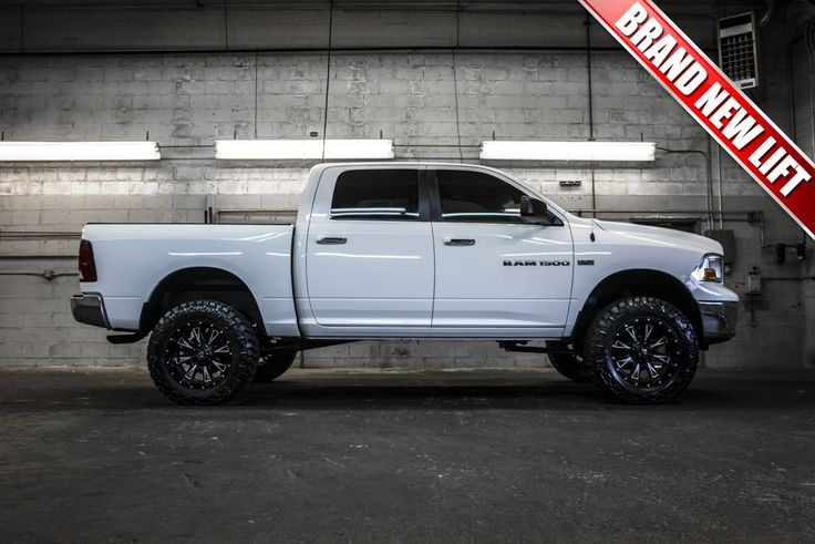 trucks 4x4 and wheels on pinterest - 2012 Dodge Ram 1500 White With Black Rims