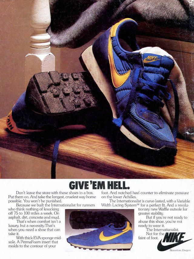 0c379817756c67 10 of the Coolest Vintage Sneaker Ads from the 1980 s  Nike  Internationalist – 1980  Sneakers