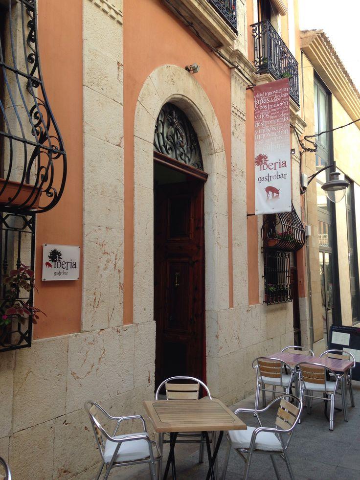 Restaurant in a street in Javea, Spain