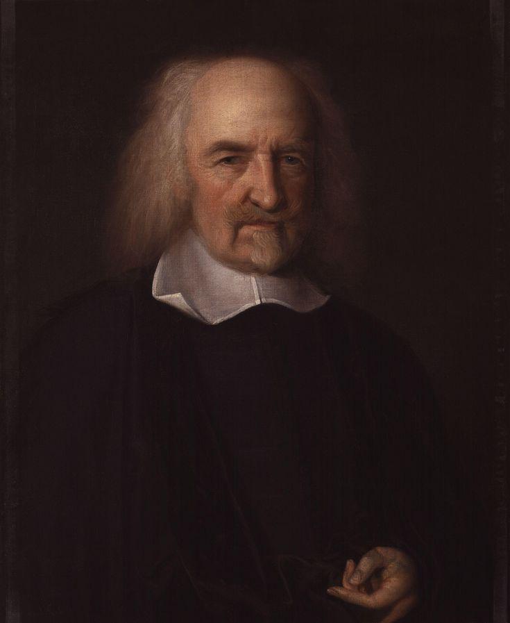 Thomas Hobbes(1588-1679) geboren in Malmesbury. Filosofeerde over een ideale samenleving, vooral over de verhouding van vorst tot volk. Hij zei dat mensen concurrenten zijn op het gebied van overleven. Vandaar de uitspraak 'homo homini lupus est' wat 'de mens is voor zijn medemens een wolf' betekende. Volgens Hobbes heeft de mens gelukkig wel het verstand dat op deze manier in een oorlog de mens zal uitsterven. Dit dwingt de mens ertoe zich te verenigen. Dit doet men met één sterke leider.