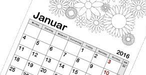 Kinderkalender zum selber basteln Vorlagen zum ausmalen