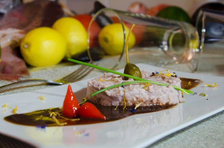 Octopus Pâté (with wine sauce)