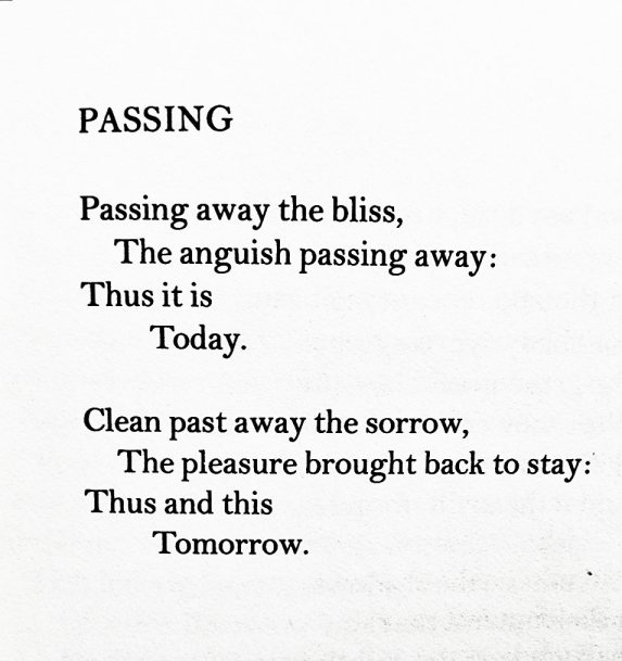 """Passing"" — Christina Rossetti"