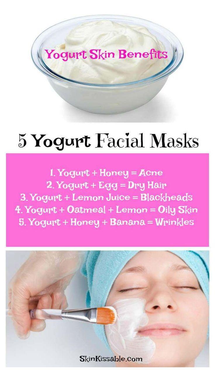 Diy yogurt skin care facial masks to clear the skin, reduce wrinkles & get rid o…