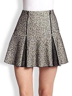 Robert Rodriguez Flippy Pleated Twill Mini Skirt