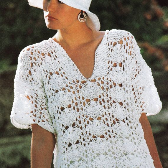 Vintage Knitting Pattern PDF   Shell by PastPerfectPatterns, £1.50