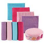 "Luvable Friends 8 Pack Washcloths with Bonus Bath Sponge - Pink Shell - Baby Vision  - Babies""R""Us"