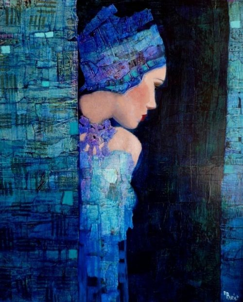 Richard Burlet. Contemporary French artist whose homages to Klimt are stunning in their own right. Thralldom can be creative.