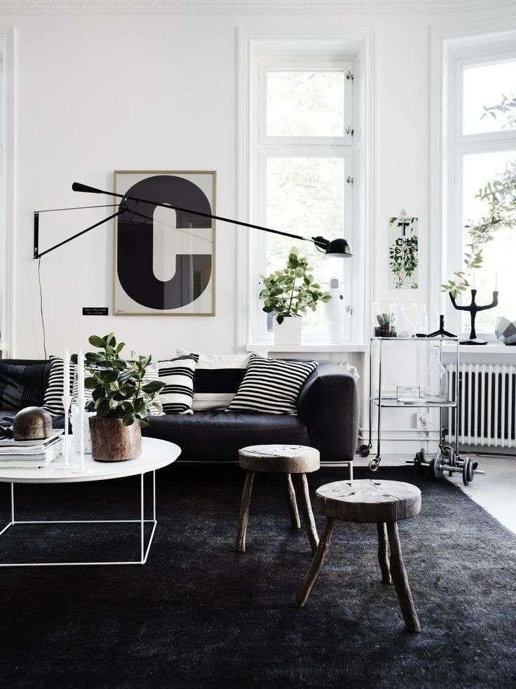 Idee abbinamenti tappeto e divano Salotti scandinavi