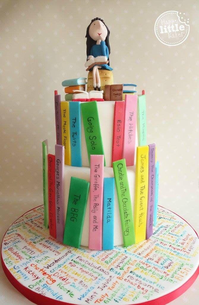 Roald Dahl/ Matilda themed cake.