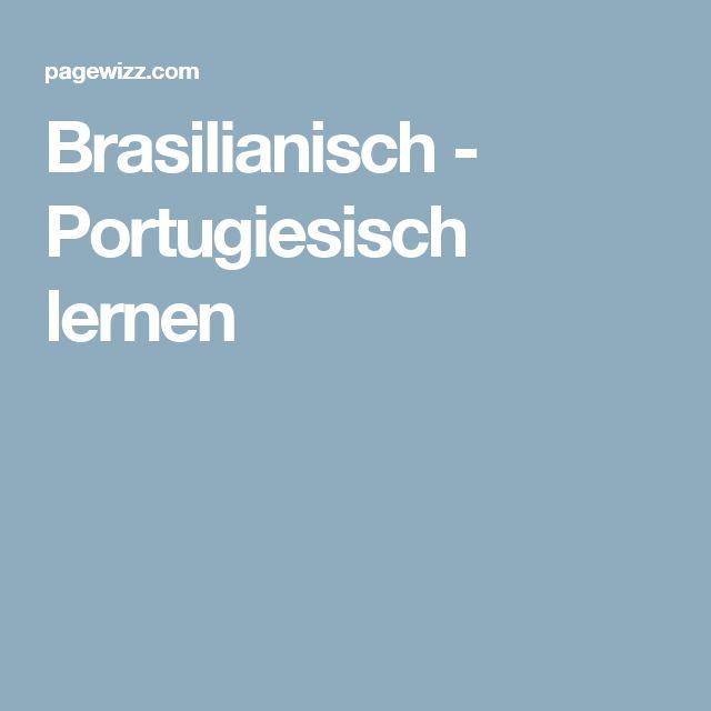 Brasilianisch - Portugiesisch lernen