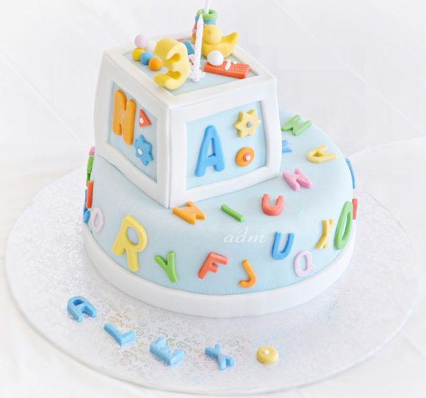 boy birthday alphabet cake | Alphabet Birthday Party 3 | Flickr - Photo Sharing!