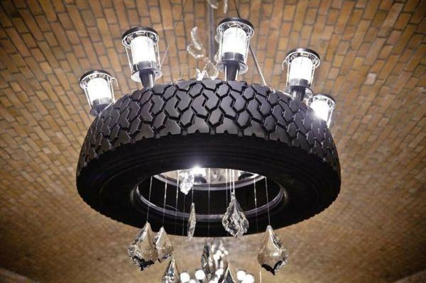 Möbel aus Autoreifen kronleuchter licht