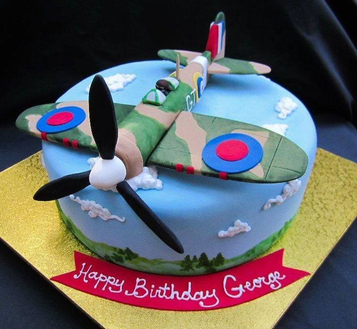 Fondant Cake Design For Husband : My husband would love this Spitfire cake - by Karin Dovel ...