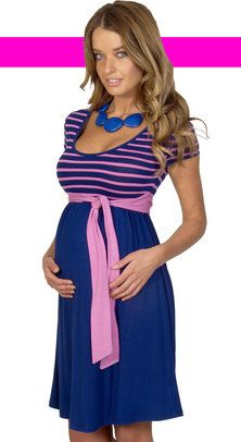 Pink & Navy Maternity Dress-if I ever got pregnant again, (which I won't) I would love to have this.