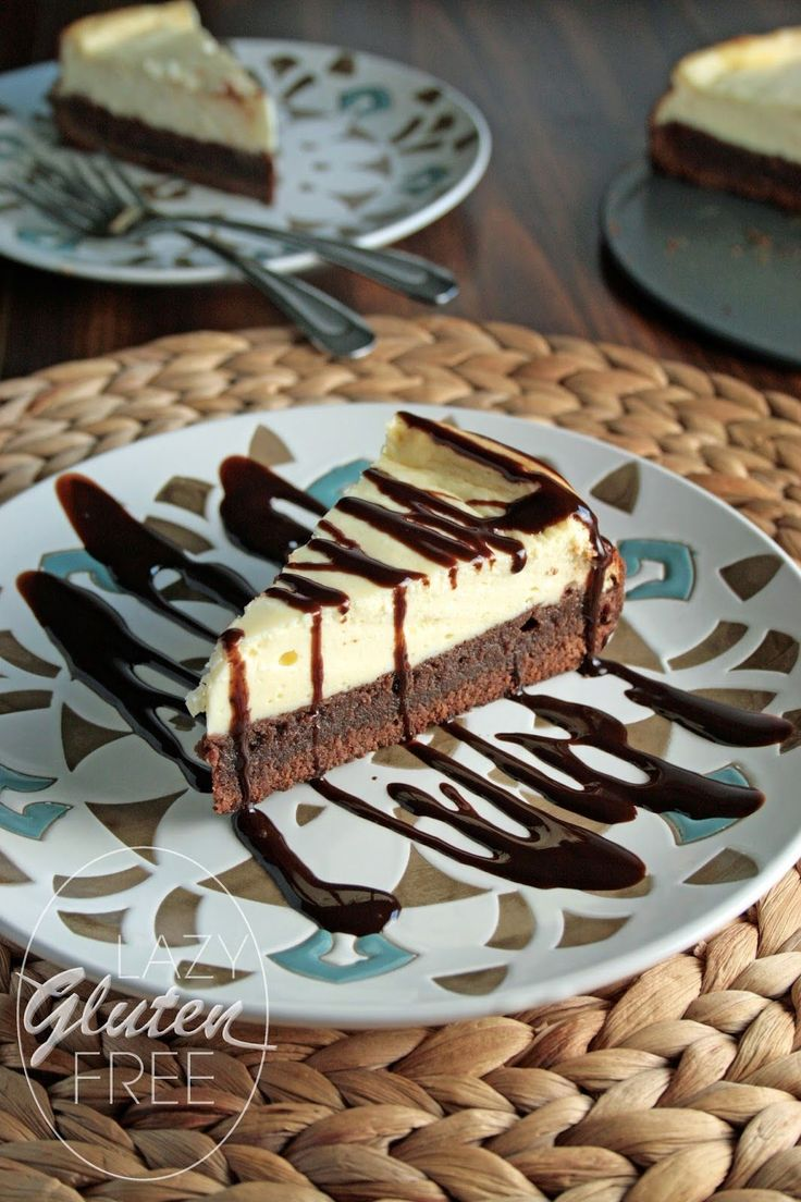 Lazy Gluten Free: Gluten Free Brownie Cheesecake #glutenfree