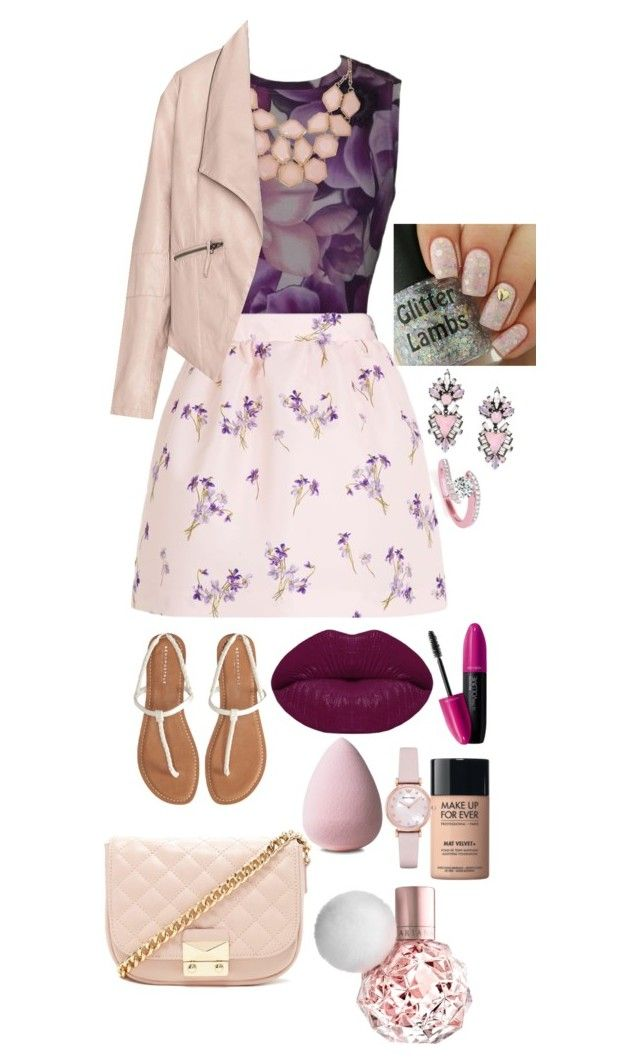 """""""Phoebe Thunderman"""" by mugglebornprincess ❤ liked on Polyvore featuring Versace, RED Valentino, Aéropostale, Forever 21, Winky Lux, MAKE UP FOR EVER, Revlon, Emporio Armani, Erickson Beamon and Allurez"""