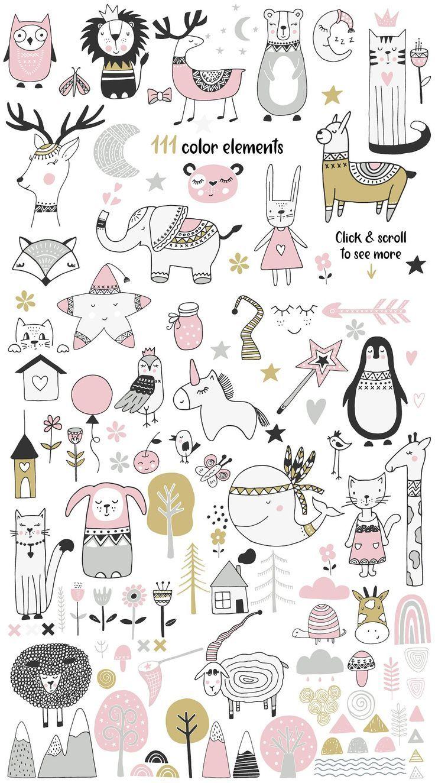 Scandinavian für Mädchen von JB ART auf Creative Market # skandinavisch #girl #ad