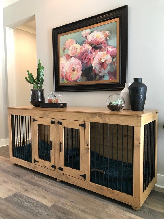Outdoor Kennel Ideas For Dogs Dogs Kennel Ideas Outdoor Dogkennelindoorpuppys Dogs Ide In 2020 Dog Crate Furniture Dog Room Decor Dog Kennel Furniture