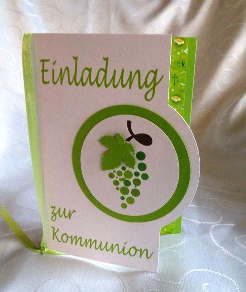 Einladungskarten - Einladung zur Kommunion Nr. 83 - ein Designerstück von Christax bei DaWanda