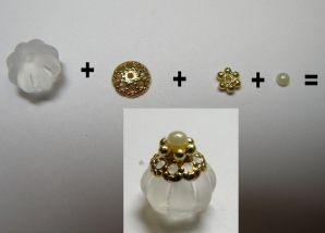 Cynthia Howe Tutorial: turn beads into miniature perfume bottles