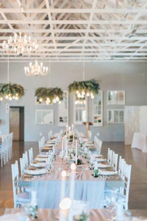 White and Blush Wedding in Modern Loft