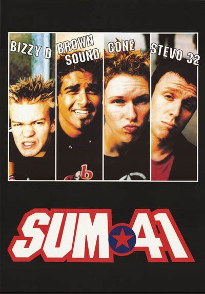 An awesome poster of Canadian Pop Punk band Sum 41! Published in 2002. Fully licensed. Ships fast. 24x34 inches. Need Poster Mounts..? bm7132
