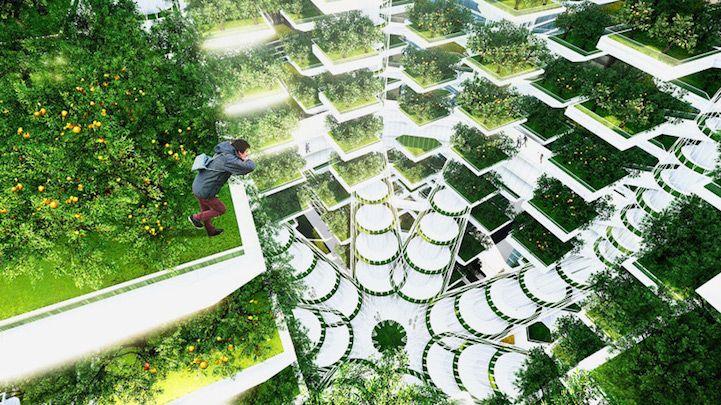 Innovative Tree-Shaped Skyscraper Brings Vertical Farming to Seoul - My Modern Met