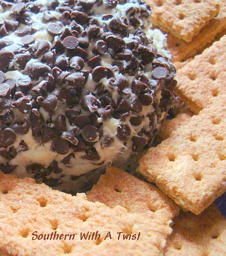 Southern With A Twist: Chocolate Chip Cheese Ball