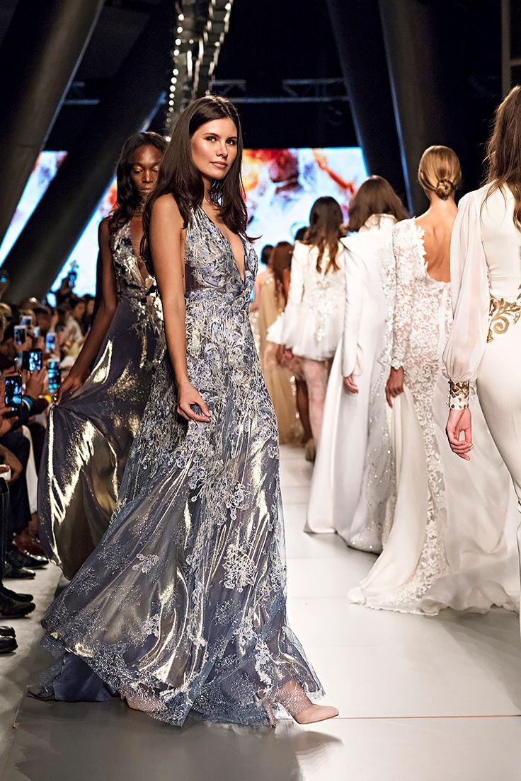 Arab Fashion Week Dubai  Models on the runway Meydan Hotel  Dresses by Sylwia Romaniuk Fashion Designer