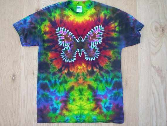 Youth Size Butterfly Tie Dye choose size by tiedyetodd on Etsy