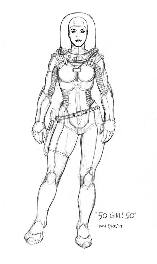 space suit by frank cho