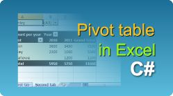 Export Excel with pivot table using EasyXLS library! XLS, XLSX, XLSM, XLSB file in .NET. #EasyXLS #Excel #PivotTable #CSharp