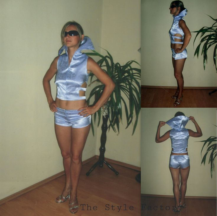 Shirt and shorts - imitation snake skin // thestylefactory.pl //
