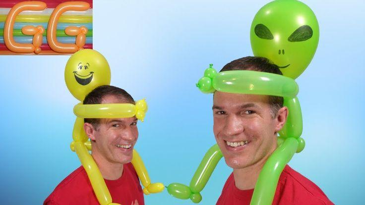 como hacer sombreros locos - sombrero con globos #3 - globoflexia facil ...