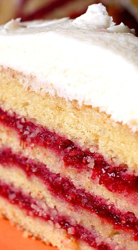 White Chocolate Raspberry Cake